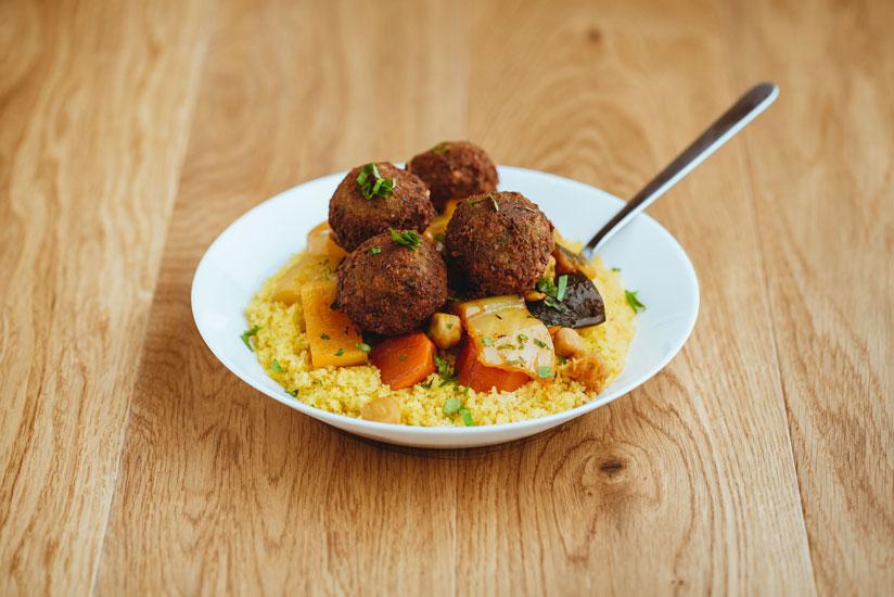 Couscous aux falafels
